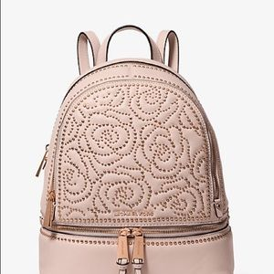 NWT MICHAEL KORS Rose Studded Rhea Backpack
